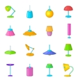 Lamp icons set cartoon style vector image vector image