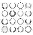 laurel wreath round ceremonial frames vector image