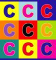 letter c sign design template element pop vector image