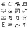 line advertisement icon set vector image vector image