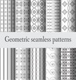 monochrome-geometric-seamless-pattern vector image vector image