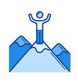 mountain climber line icon vector image vector image