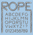 nautical rope font vector image vector image