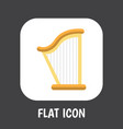 of mp3 symbol on harp flat vector image