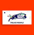 officer at work catching robber during duty vector image vector image