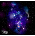 orion constellation vector image vector image