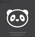 panda premium icon white on dark background vector image