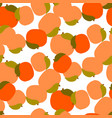 peach seamless pattern on white vector image vector image