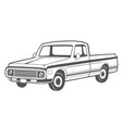 pickup truck vector image vector image