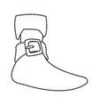 pirate women boot vector image vector image