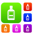 plastic bottle set color collection vector image vector image