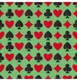 Playing cards suits seamless pattern vector image vector image