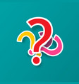 Question mark symbols colorful paper cut query
