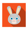rabbit muzzle icon in flat style isolated on white vector image