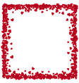 red paper heart frame background valentines day vector image