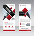 Red square Business Roll Up Banner templates set vector image