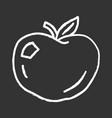 ripe apple chalk icon organic fresh fruit vector image vector image