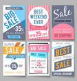 sale posters template with discount and vector image