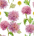 seamless texture watercolor flowers golden-daisy vector image