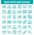 Seo search engine optimization outline icons