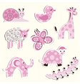 Set of fun zoo for a girl vector image vector image