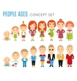 set people age flat icons vector image