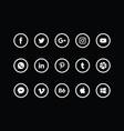 social media icon pack white vector image