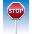 Stop traffic board vector image vector image