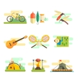 Tourist Summer Equipment Flat Set vector image vector image