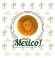 viva mexico skull invitation party vector image vector image