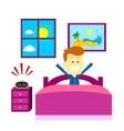 Wake Up Happily vector image vector image