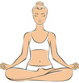 Young woman practicing yoga vector image vector image