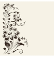 Flower isolated on sepia background vector image