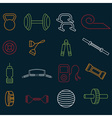 line craft icons set of fitness theme vector image