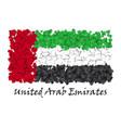 flag love unitaed arab emirates flag heart glossy vector image