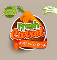 fresh carrot logo vector image