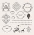 mega set collections of vintage design elements vector image