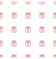 1st day calendar icon pattern seamless white vector image vector image