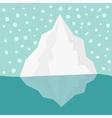 Iceberg Blue water Snow flake in the sky Flat