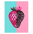 abstract poster with strawberries in a pop art