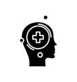 adding information black icon concept vector image