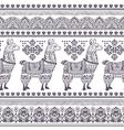 Alpaca Llama animal seamless pattern vector image vector image