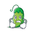 angry peas mascot cartoon style vector image vector image