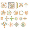arabic geometric shapes elements set