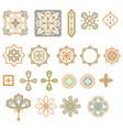 arabic geometric shapes elements set vector image