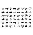 arrows big black set icons arrow icon arrow vector image vector image