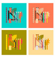 assembly flat icons on stylish background pencils vector image vector image