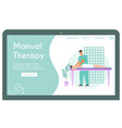 banner manual therapy concept vector image