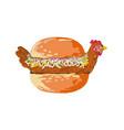 Bird in bun sandwich retro