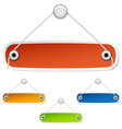blank hanging labels vector image